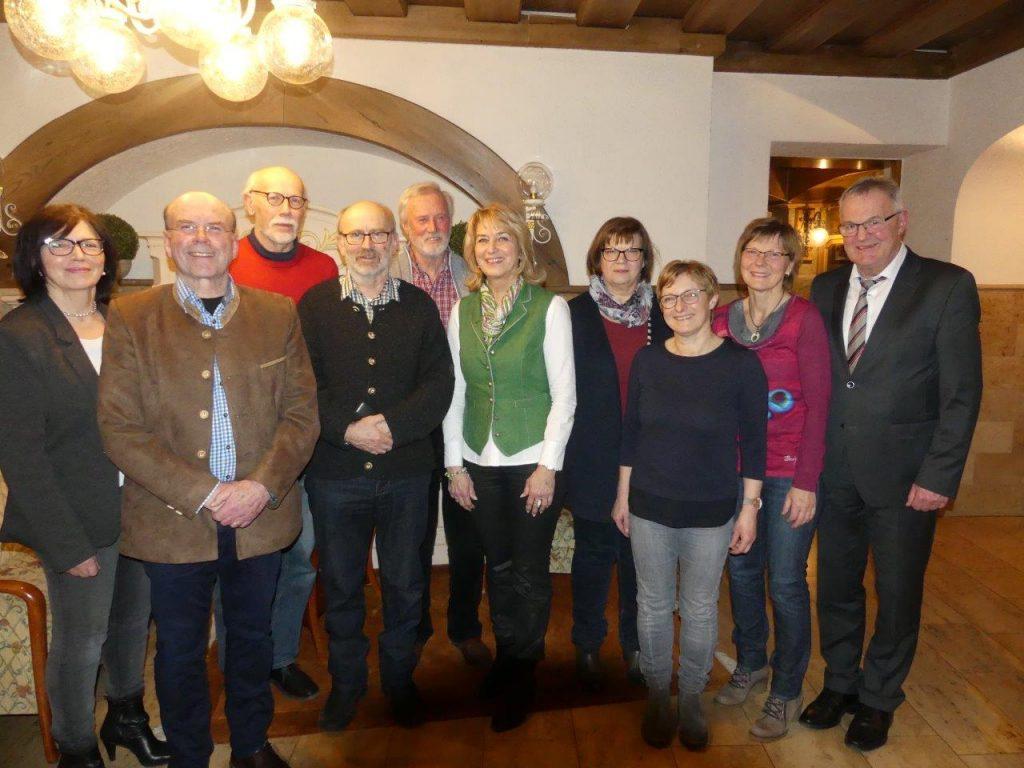 Vorstand des Kulturvereins Röhrnbach im Jahr 2018